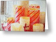 Candles For Xmas Greeting Card