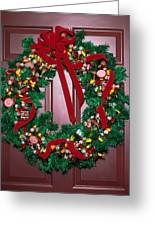 Candy Christmas Wreath Greeting Card
