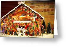 Candy Gingerbread House Greeting Card