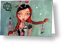 Candy Girl  Greeting Card by Caroline Bonne-Muller