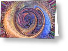 Candy Stripe Planet Greeting Card