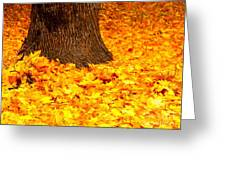 Candycorn Leaves Greeting Card