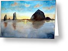 Cannon Beach Sunset Greeting Card