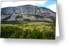 Cannon Cliff From Boise Rock New Hampshire Greeting Card