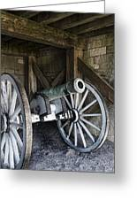 Cannon Storage Greeting Card by Peter Chilelli