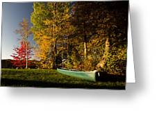 Canoe Greeting Card