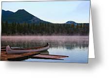 Canoe Waiting Jasper National Park Greeting Card
