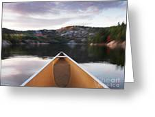 Canoeing In Ontario Provincial Park Greeting Card