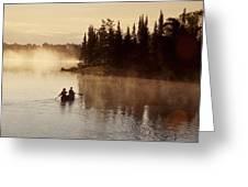 Canoeing On Winnipeg River, Pinawa Greeting Card
