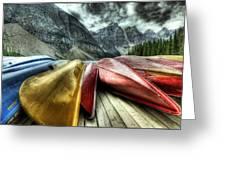 Canoes 2 Greeting Card