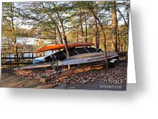 Canoes Resting Greeting Card