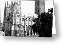 Canterbury Cathedral - England - C 1902 Greeting Card
