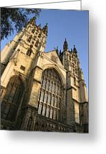 Canterbury Cathedral, Low Angle View Greeting Card