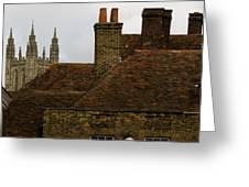 Canterbury Rooftops Greeting Card