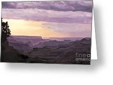 Canyon At Dusk Greeting Card