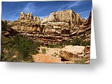 Canyon Castle Greeting Card