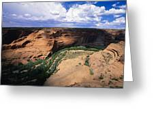 Canyon Light And Shadow  Greeting Card