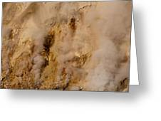Canyon Steam Vents In Yellowstone National Park Greeting Card