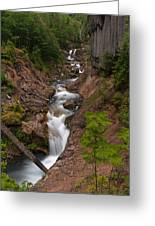 Canyon Stream Greeting Card by Mike Reid