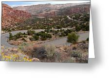 Canyon Switchback Greeting Card
