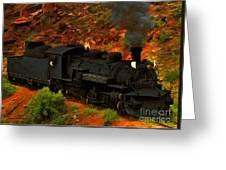 Canyon Train Greeting Card