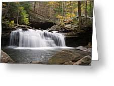 Canyon Waterfall Greeting Card