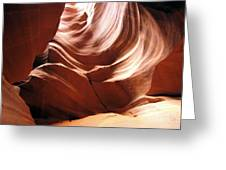 Canyon Waves Greeting Card