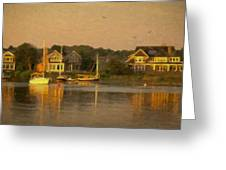Cape Cod Evening Greeting Card by Michael Petrizzo