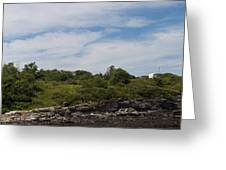 Cape Elizabeth Two Lights Cape Elizabeth Maine Greeting Card