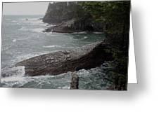 Cape Flattery Shoreline Greeting Card