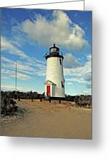 Cape Pogue Lighthouse Marthas Vineyard Greeting Card