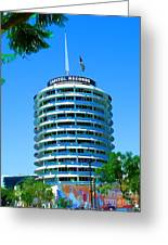 Capital Records Hollywood Greeting Card