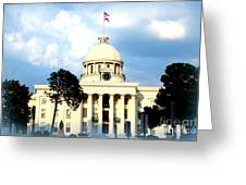 Capitol Building In Montgomery Greeting Card