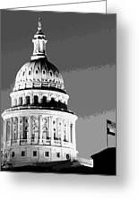 Capitol Dome Bw10 Greeting Card