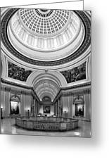Capitol Interior Greeting Card by Ricky Barnard