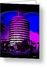 Capitol Records Building Greeting Card