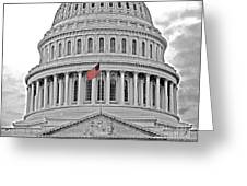 Capitol With Flag Greeting Card