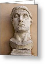 Capitoline Museums Palazzo Dei Conservatori- Head Of Emperor Con Greeting Card by Bernard Jaubert