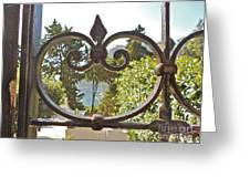 Capri Through Gate Greeting Card by Italian Art