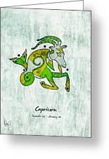 Capricorn Artwork Greeting Card