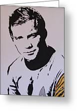 Captain Kirk Greeting Card by Robert Epp