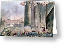 Capture Of The Bastille Greeting Card by Granger