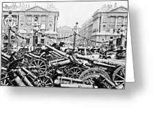 Captured German Guns At Palace De La Concorde In Paris - France Greeting Card
