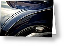 Car Abstract Greeting Card by Odd Jeppesen
