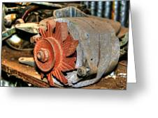 Car Alternator Greeting Card
