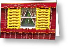 Caravan Window Greeting Card