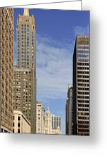Carbide And Carbon And Wrigley Building - Two Chicago Classics Greeting Card