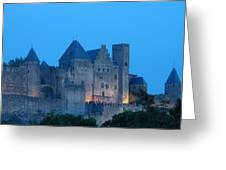 Carcassonne At Twilight Greeting Card