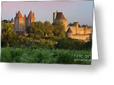 Carcassonne Dawn Greeting Card