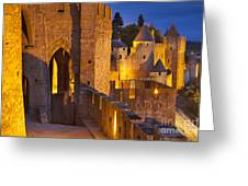 Carcassonne Ramparts Greeting Card